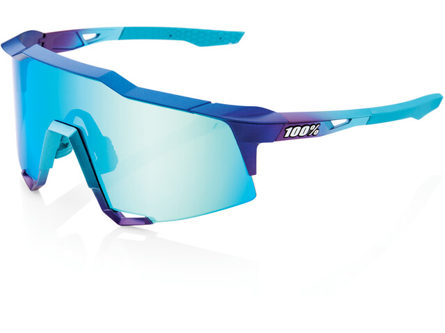 100% Speedcraft Brille Tall matte metallic into the fade/blue mirror